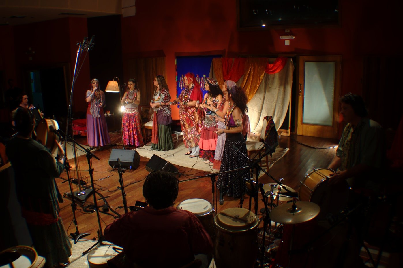 Mawaca singers and musicians during recording of DVD 'Inquilinos do Mundo', in August 2012